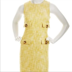 Michael Kors Yellow Tweed Dress